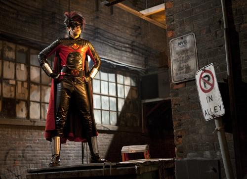 Kick-Ass - Wannabe superhero Dave Lizewski inspires copycats, including Christopher Mintz-Plasse's Red Mist, in the comic-book movie