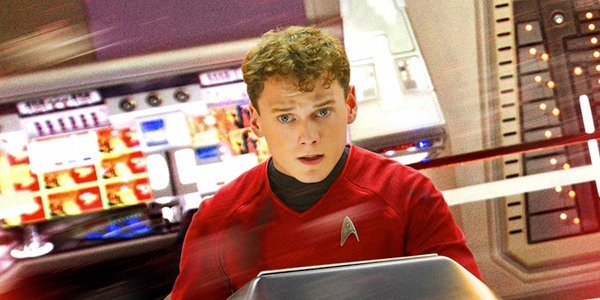 Yelchin as Chekov in Star Trek