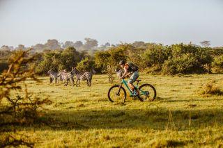 Nichole Baker riding in Uganda