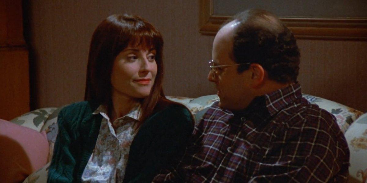 Megan Mullally and Jason Alexander on Seinfeld