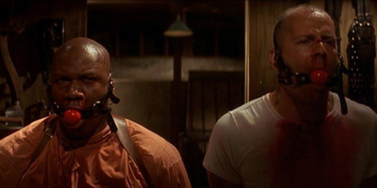 Ving Rhames on the left, Bruce Willis on the right