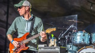 """Jake Cinninger, is the guitarist in the band called """"Umphrey's McGee"""". They are performing on their third sold out performance that week end at Red Rocks Ampitheater in Morrison, CO. on June 23, 2019"""