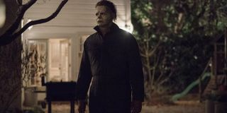 Michael Myers stalking in the 2018 Halloween