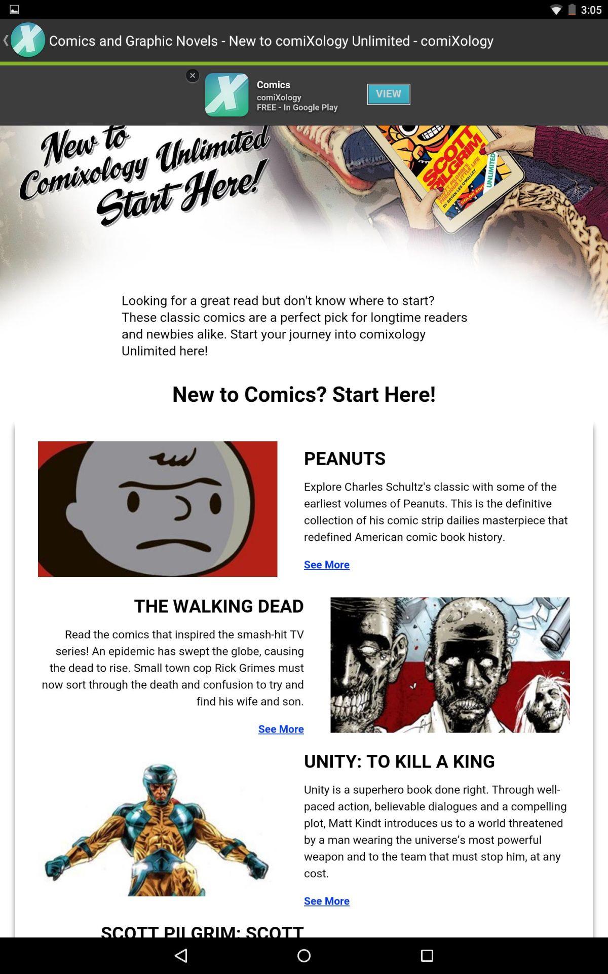 Pow! Zap! Comixology Battles Marvel's Unlimited Service