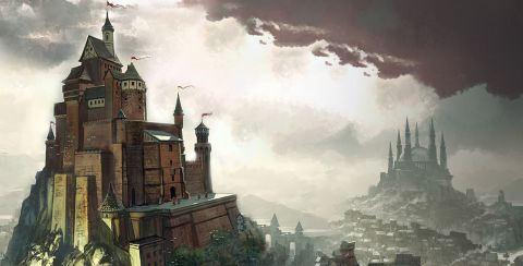 The city of King's Landing as seen in A Game of Thrones: The Board Game - Digital Edition