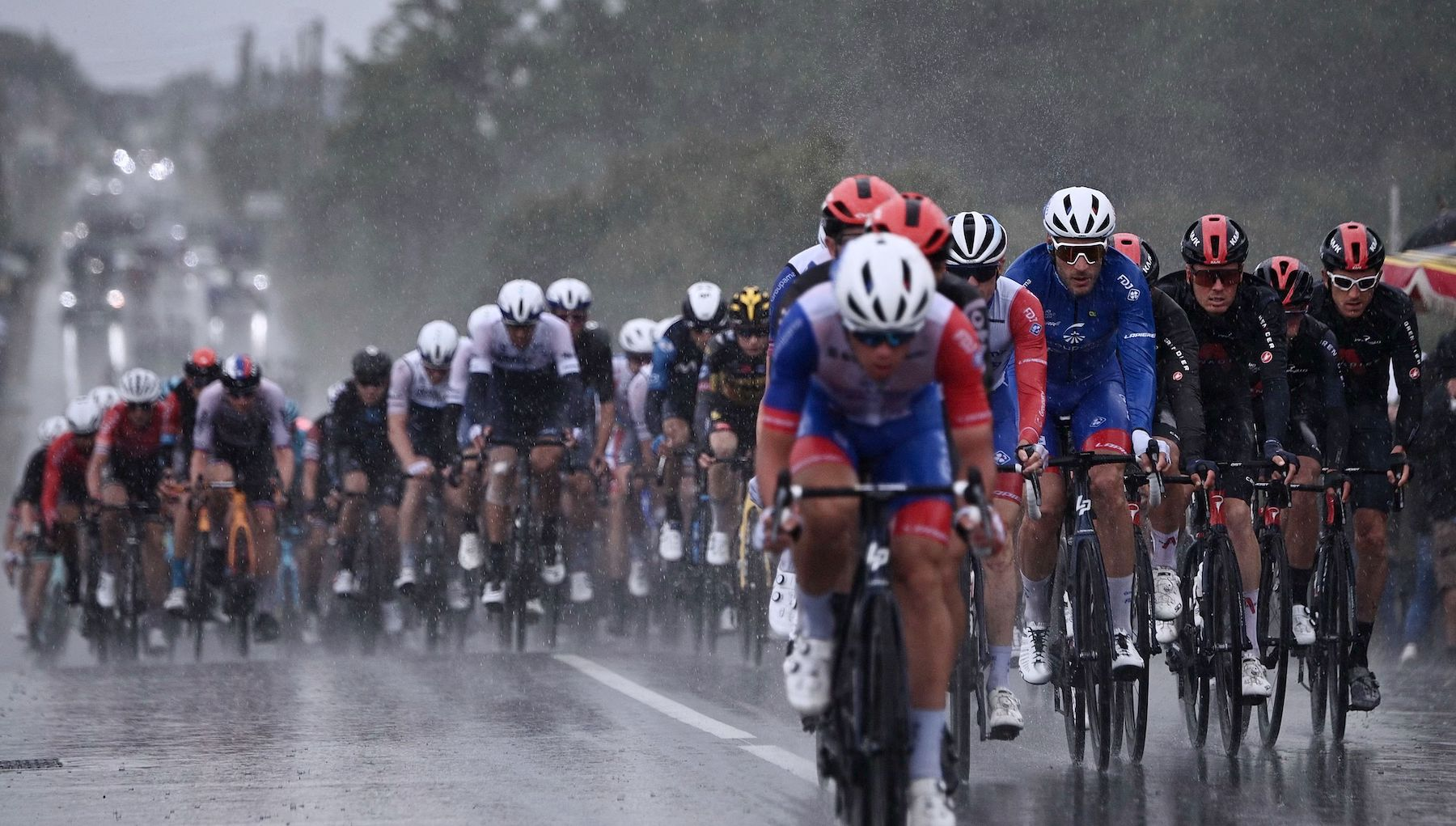 The peloton on stage three of the 2021 Tour de France