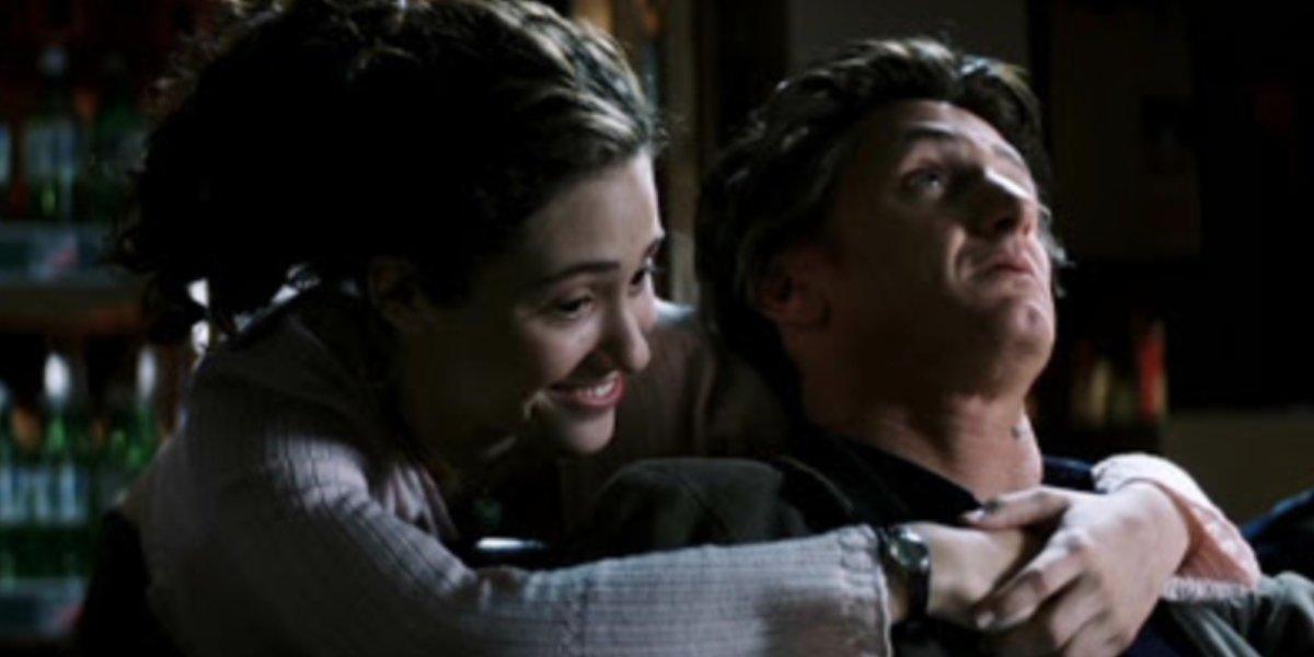 Emmy Rossum and Sean Penn in Mystic River