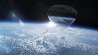 Arizona-based company World View Enterprises aims to start lofting paying customers on stratospheric balloon rides in 2024, as depicted in this artist's illustration.