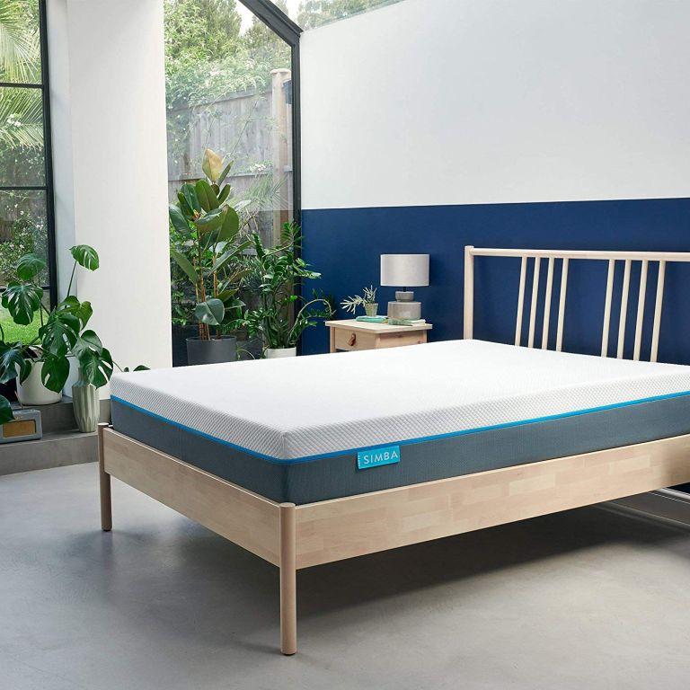 Simba mattress discount code: simba mattress on bed in bedroom