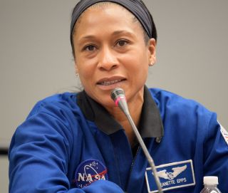 NASA astronaut Jeanette Epps speaks at the 70th International Aeronautical Congress in October 2019.