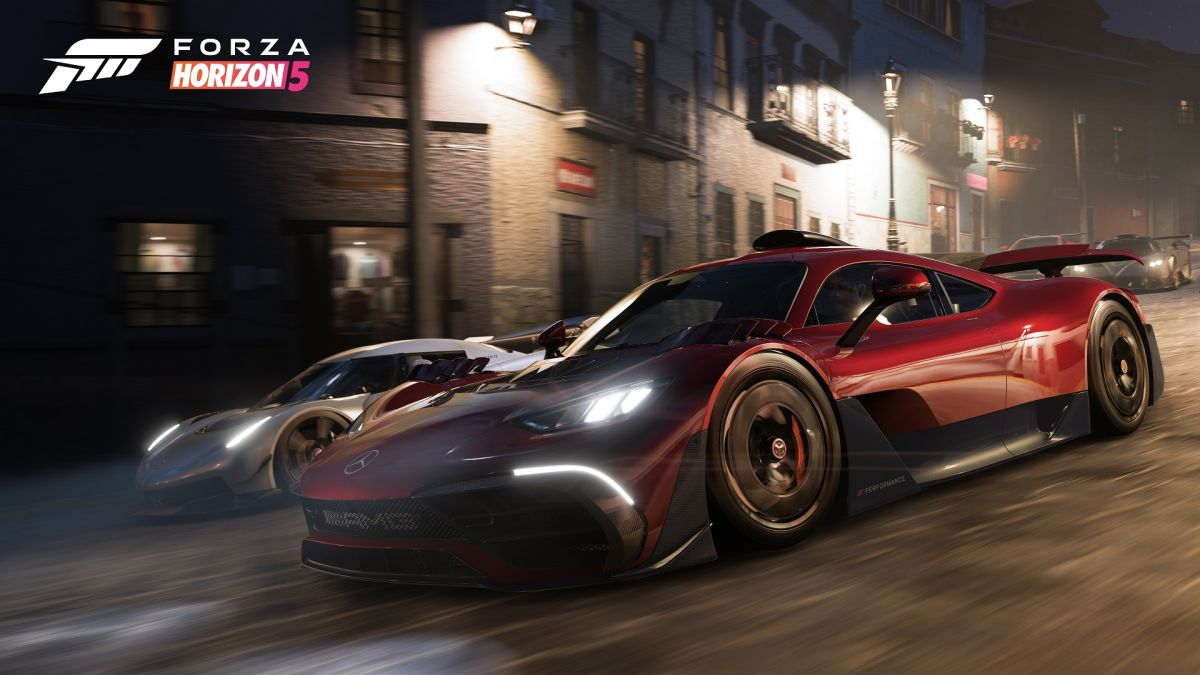 Forza Horizon 5 cover cars include the transforming Mercedes-AMG One