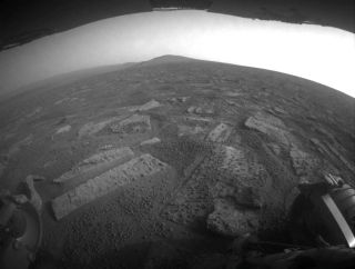 "Mars Exploration Rover Opportunity is crossing in a flat area called ""Botany Bay"""
