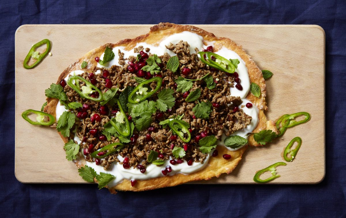 Create this Middle Eastern lamb flatbread for a perfect side dish