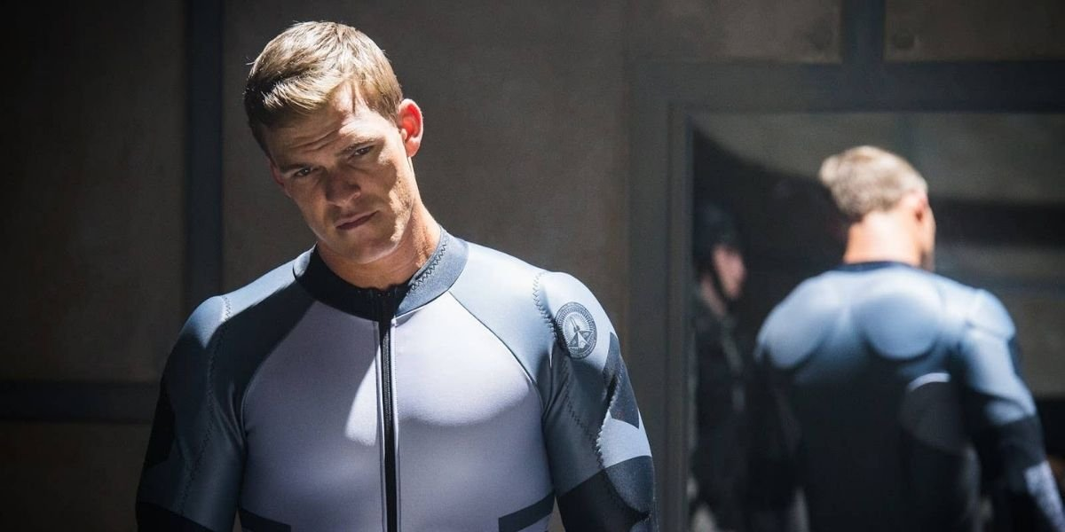 Alan Ritchson in Blood Drive looking at the camera wearing spandex