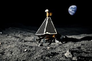 Artist's view of Astrobotic Technology's Google Lunar X Prize Moon Rover