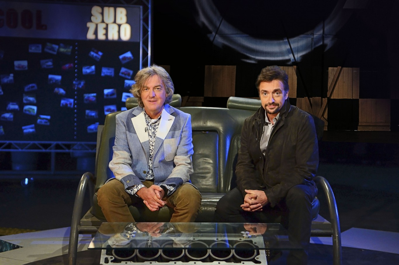 James May and Richard Hammond in the Top Gear studio