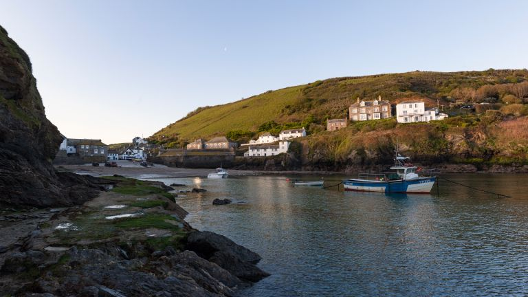 view of homes near port isaac harbour