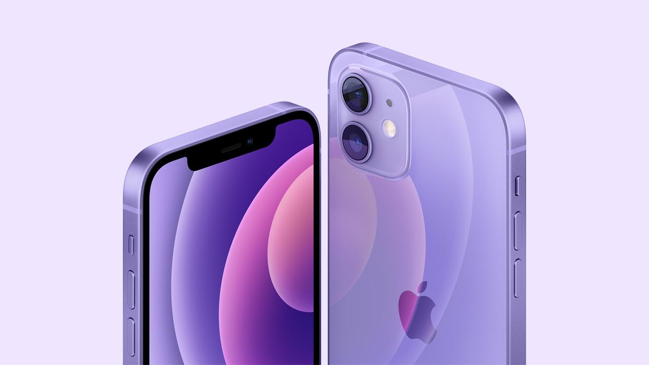 Apple iPhone 12 in purple