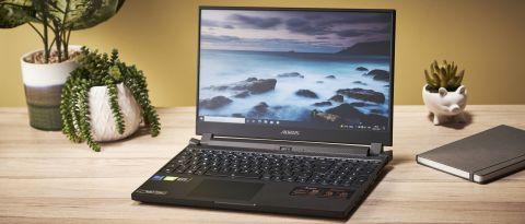 Gigabyte Aorus 15P YD open on desk