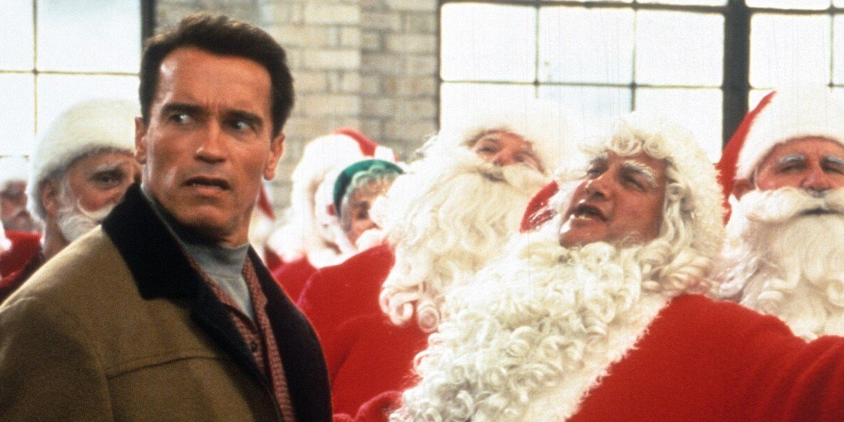 Arnold with a Santa Clause