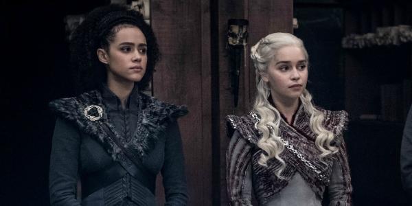 Game of Thrones Missandei Nathalie Emmanuel Daenerys Targaryen Emilia Clarke HBO