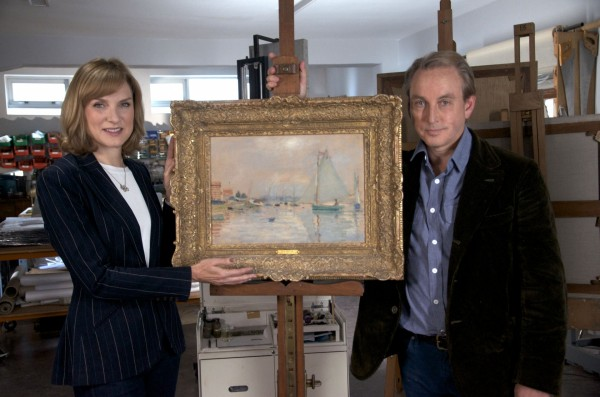 Fiona Bruce and art dealer Philip Mould