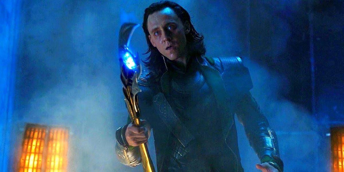 Tom Hiddleston as Loki in The Avengers