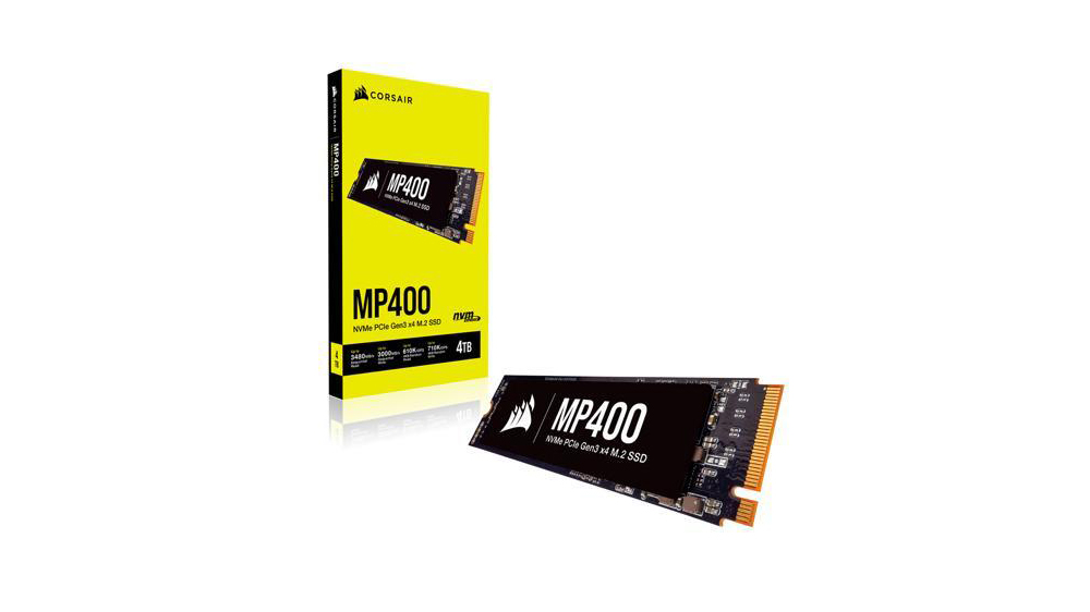 Corsair MP400 drive and retail packaging