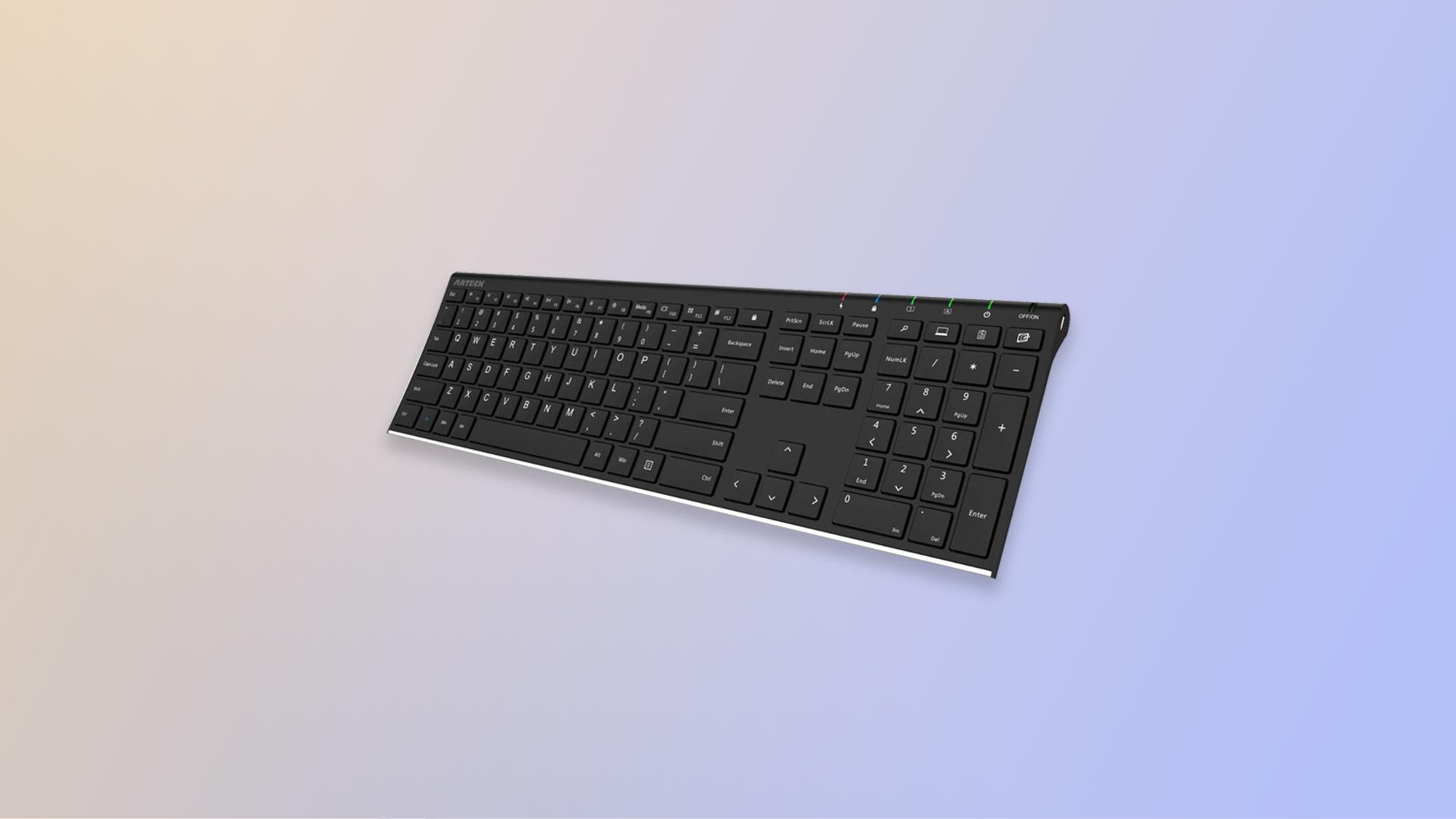 El mejor teclado: Teclado inalámbrico Arteck 2.4G