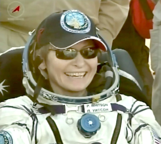 NASA astronaut Peggy Whitson smiles after returning to Earth on a Soyuz capsule in Kazakhstan on Sept. 3, 2017 local time (Sept. 2 EDT), ending a record-breaking mission to the International Space Station.