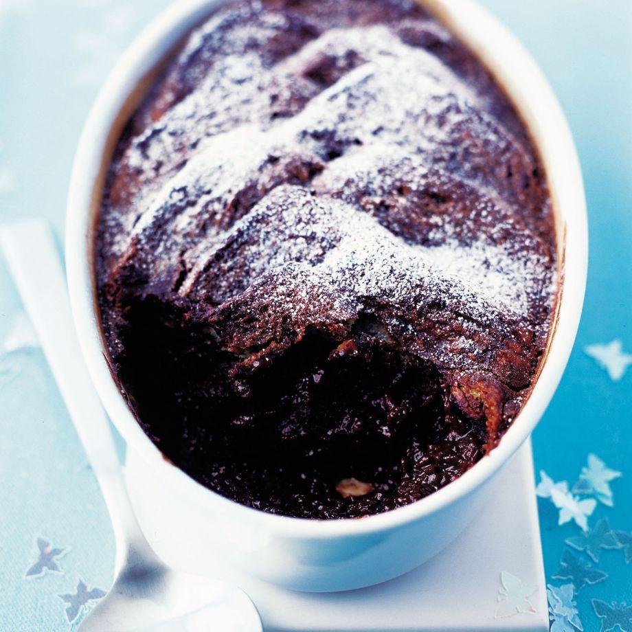 Chocolate and Orange Brioche Pudding