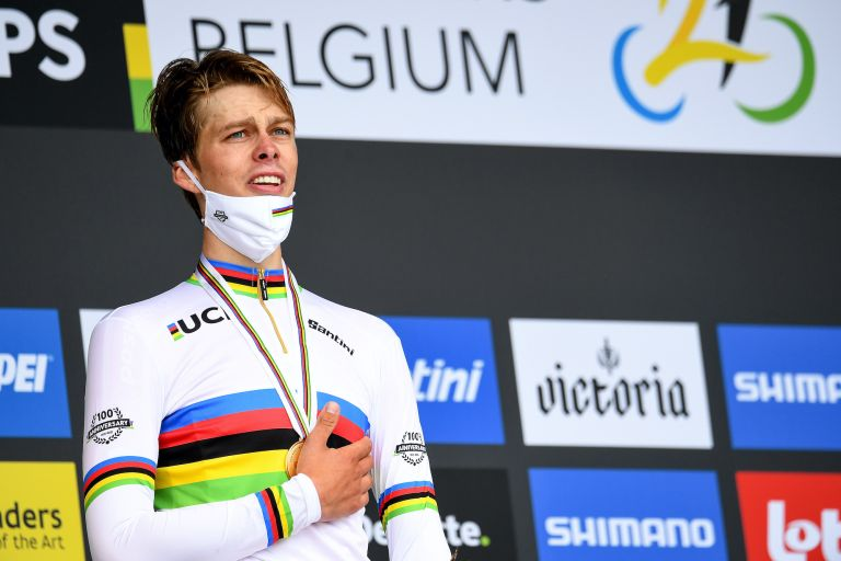 Johan Price Pejtersen celebrates U23 TT victory