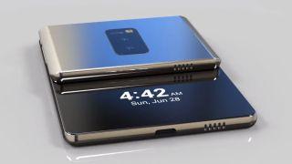 Concept image of Samsung folding phone