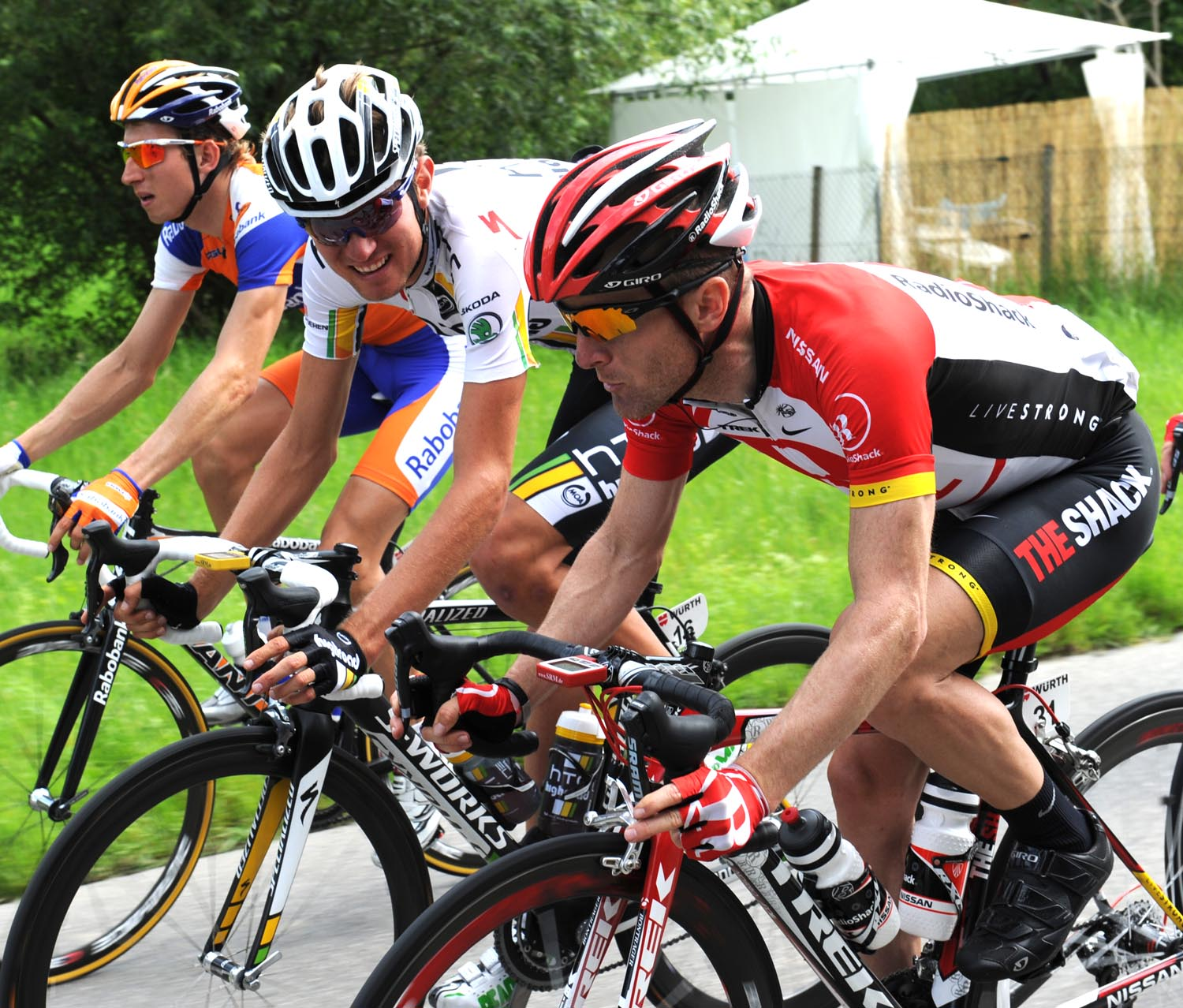 Levi Leipheimer and Tejay Van Garderen, Tour de Suisse 2011, stage four
