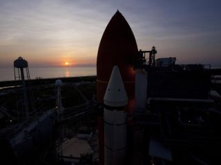 Sunrise Over Shuttle Atlantis