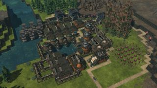 A quaint wooden town, built by beavers.