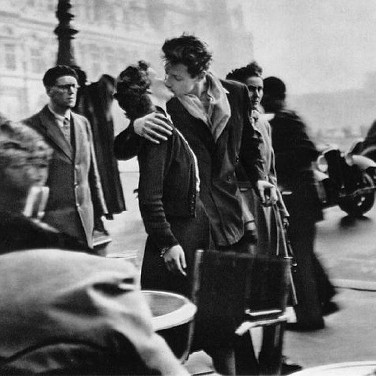 Kiss by the Hotel de Ville by Robert Doisneau