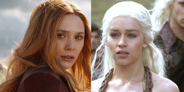 Elizabeth Olsen Scarlet Witch Avengers: Infinity War Emilia Clarke Daenerys Targaryen Game of Throne