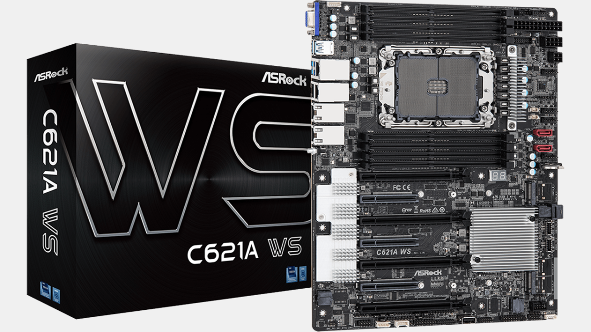 ASRock's C621A WS Enables Workstations with 38 Cores & Up to 2TB DDR4