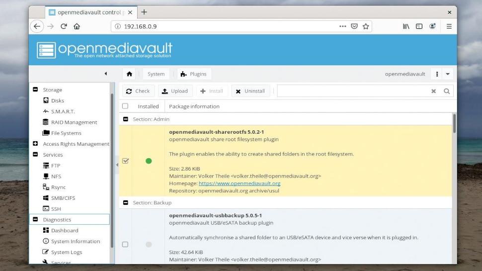 Screenshot of the Open Media Vaul interface
