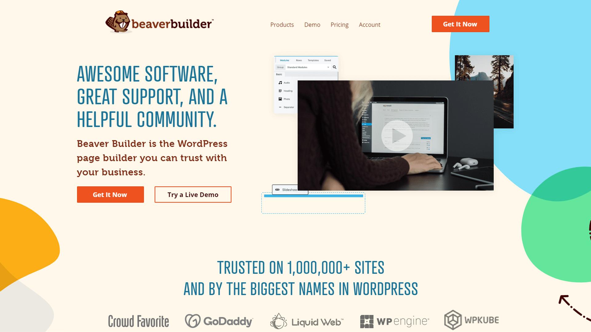Beaver Builder's homepage