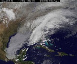 Winter Storm Satellite Photo - Feb. 12, 2014