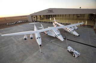 SpaceShipTwo Mated to WhiteKnightTwo