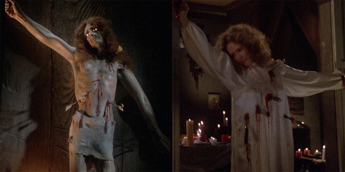 Carrie Margaret White's Death Pose vs St. Sebastian statue