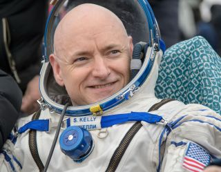 NASA astronaut Scott Kelly smiles after returning to Earth to end a 340-day mission to the International Space Station, ending his nearly yearlong mission. He and two Russian crewmates landed in a remote part of Kazakhstan on March 2, 2016 (Kazakh time).
