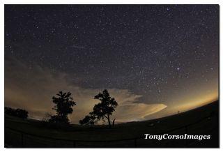 Lyrid Meteor Over Texas, April 2014