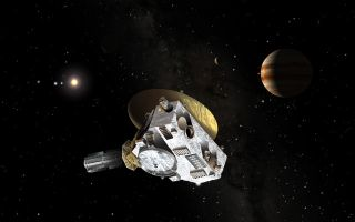 An artist's rendering of the New Horizon spacecraft.