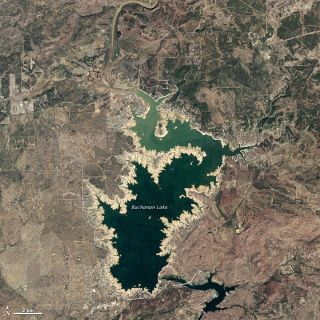 lake buchanan drought 2011