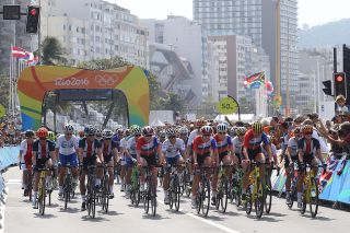 The elite women's road race in the Olympic Games in Rio in 2016