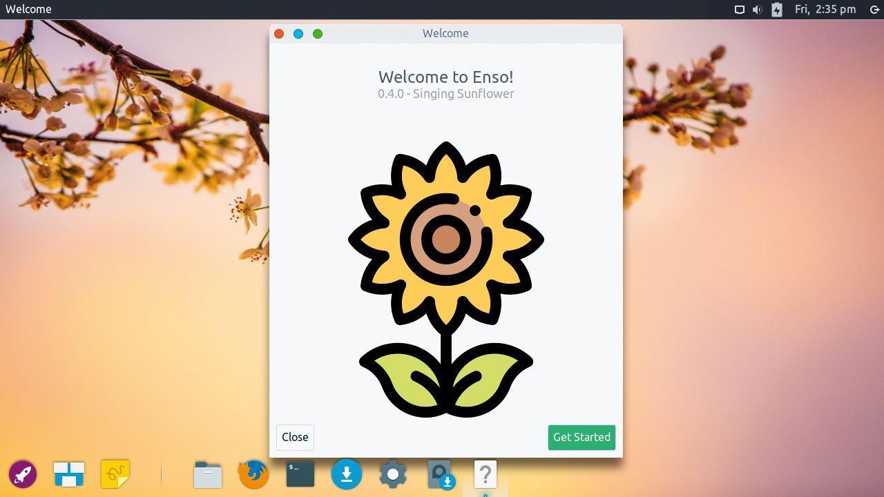 Screenshot of Enso OS